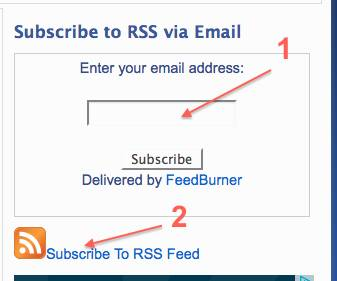 feedburner rss form