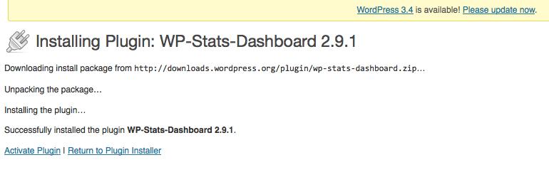 WPstats installing
