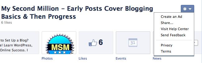 facebook click arrow