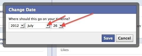 facebook set date