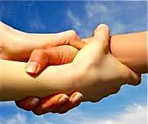 link hands