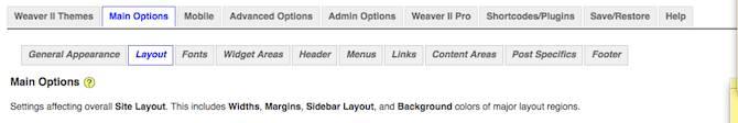 weaver admin layout