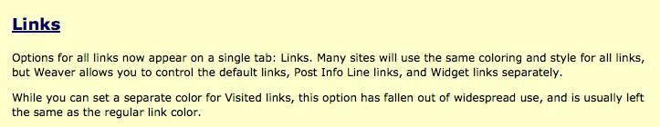 weaver Links help