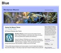 weaver blue subtheme