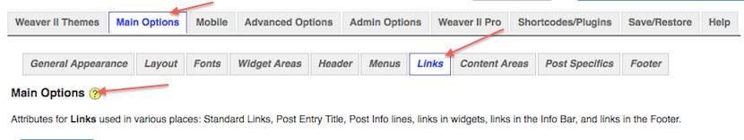 weaver admin links
