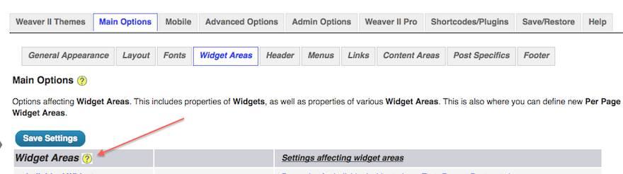weaver widgets