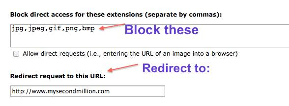 blocks & redirects