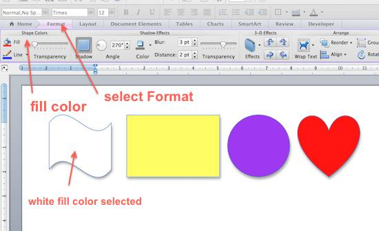 select fill colors