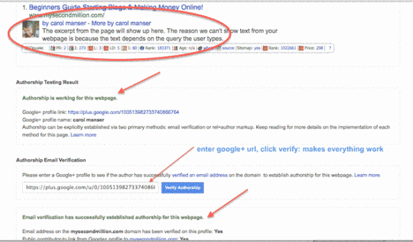 rich snippets working