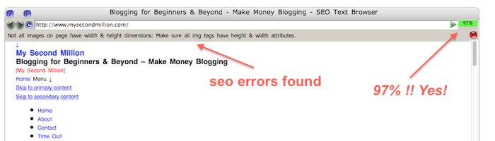 site report errors