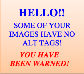 missing alt tags