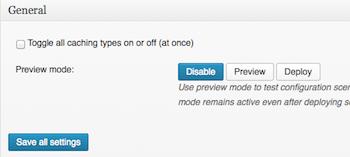 W3TC preview button