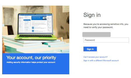 microsoft account signin
