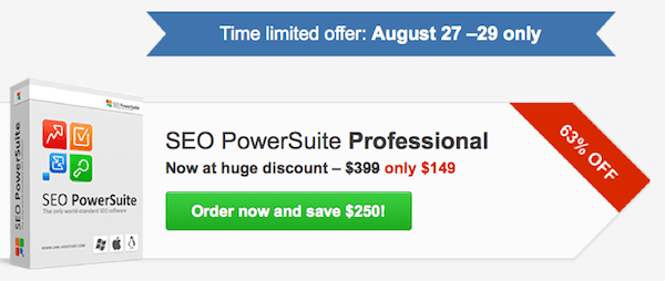 SEO powersuite sale