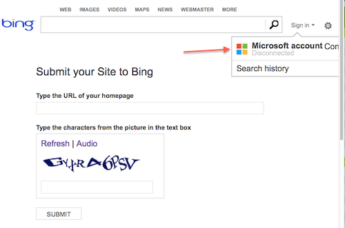 sign in bing
