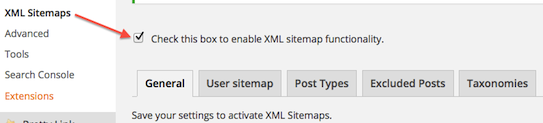 SEO XML Settings