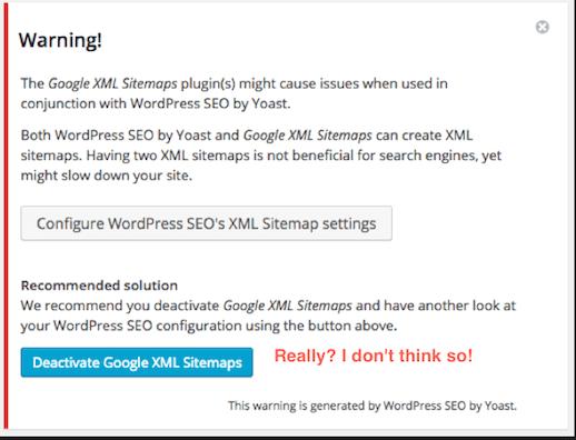 SEO XML Sitemap Warning